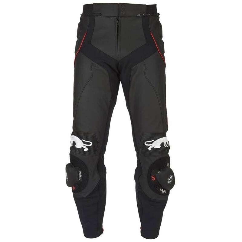 cuir//imperm/éable Texpeed Pantalon de moto pour homme noir avec renforts