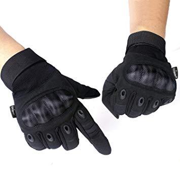 MADBIKE Gants de moto /Écran tactile /étanche Gants de moto hiver pour hommes XX-Large, black