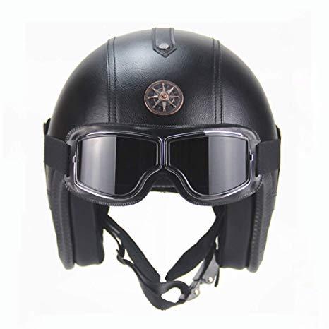 casque moto cuir