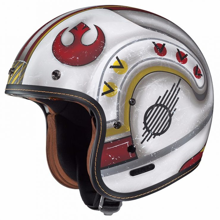 Casque moto star wars