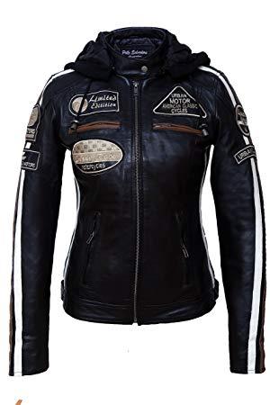 Manteau femme marine sans col